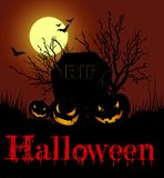 Cartão de Halloween Fotografia de Stock Royalty Free