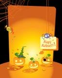 Cartão de Halloween Fotos de Stock Royalty Free