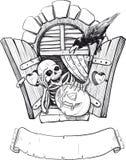 Cartão de Halloween Imagens de Stock Royalty Free