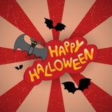 Cartão de Halloween ilustração stock
