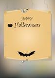 Cartão de Halloween Imagens de Stock