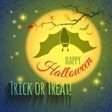 Cartão de Halloween com bastão Imagem de Stock Royalty Free