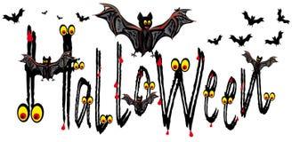 Cartão de Halloween com bastões ilustração do vetor