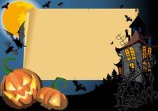 Cartão de Halloween com espaço em branco Imagem de Stock