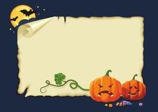 Cartão de Halloween, nenhuns inclinações ilustração do vetor