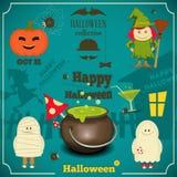 Cartão de Helloween Imagens de Stock