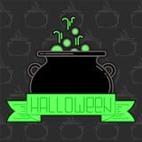 Cartão de Helloween Fotografia de Stock Royalty Free