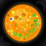 Cartão de Helloween Fotos de Stock