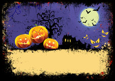 Cartão de Helloween Fotografia de Stock