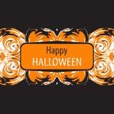 Cartão de Helloween Halloween feliz Ilustração do vetor Fotografia de Stock