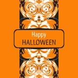 Cartão de Helloween Halloween feliz Ilustração do vetor Foto de Stock Royalty Free