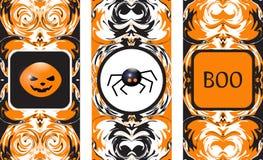 Cartão de Helloween Halloween feliz Ilustração do vetor Fotos de Stock Royalty Free