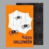 Cartão de Helloween Halloween feliz Ilustração lisa do vetor do projeto Foto de Stock Royalty Free