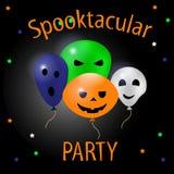 Cartão de Helloween Partido de Spooktacular Ilustração lisa do vetor do projeto Imagem de Stock