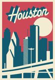 Cartão de Houston Texas ilustração do vetor
