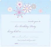 Cartão de Invitaion Fotografia de Stock