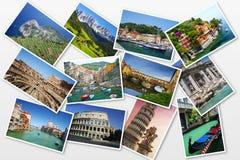 Cartão de Itália fotografia de stock