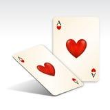Cartão de jogo Fotografia de Stock Royalty Free