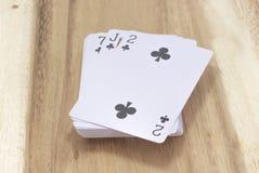 Cartão de jogo ilustração stock