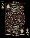 Cartão de jogo do crânio ilustração do vetor
