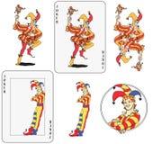 Cartão de jogo do palhaço Imagem de Stock