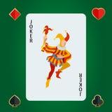 Cartão de jogo do palhaço Obscuridade do palhaço - fundo azul da parte traseira Vetor do palhaço Ilustração do palhaço ilustração royalty free