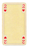 Cartão de jogo do vintage com fundo dos corações Fotografia de Stock Royalty Free