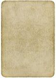 Cartão de jogo em branco do vintage isolado em um branco. Imagens de Stock Royalty Free