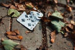 Cartão de jogo na terra imagens de stock royalty free