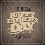 Cartão de madeira feliz do dia de pais ilustração stock