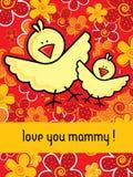 Cartão de Mamys Foto de Stock