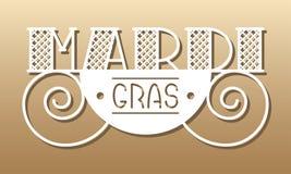 Cartão de Mardi Gras Fotografia de Stock Royalty Free