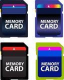 Cartão de memória Fotografia de Stock