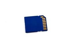 Cartão de memória azul do SD Imagens de Stock