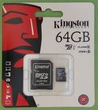 Cartão de memória de Secure Digital SD Imagens de Stock Royalty Free