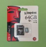 Cartão de memória de Secure Digital SD Fotografia de Stock Royalty Free