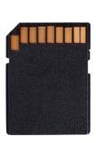 Cartão de memória preto do sd fotografia de stock royalty free