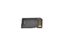 Cartão de memória preto do SD Fotografia de Stock