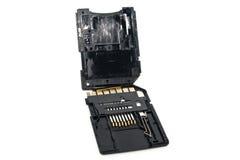 Cartão de memória quebrado foto de stock