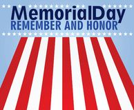 Cartão de Memorial Day ilustração do vetor