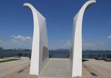 Cartão 9/11 de memorial em Staten Island Fotografia de Stock Royalty Free
