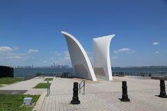 Cartão 9/11 de memorial em Staten Island Fotos de Stock