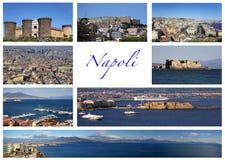 Cartão de Nápoles Imagens de Stock