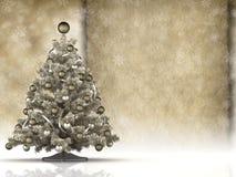 Cartão de Natal - a árvore de Natal e o papel feito a mão vazio cobrem ilustração royalty free