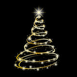Cartão de Natal Árvore do Xmas ilustração do vetor