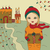 Cartão de Natal Ilustração do Vetor