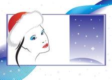 Cartão de Natal abstrato ilustração stock