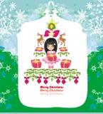 Cartão de Natal abstrato Imagem de Stock Royalty Free