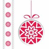 Cartão de Natal abstrato da ilustração Imagem de Stock