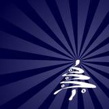 Cartão de Natal azul Foto de Stock Royalty Free